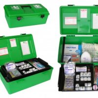 National Compliant First Aid Kit – Large Green Portable Box